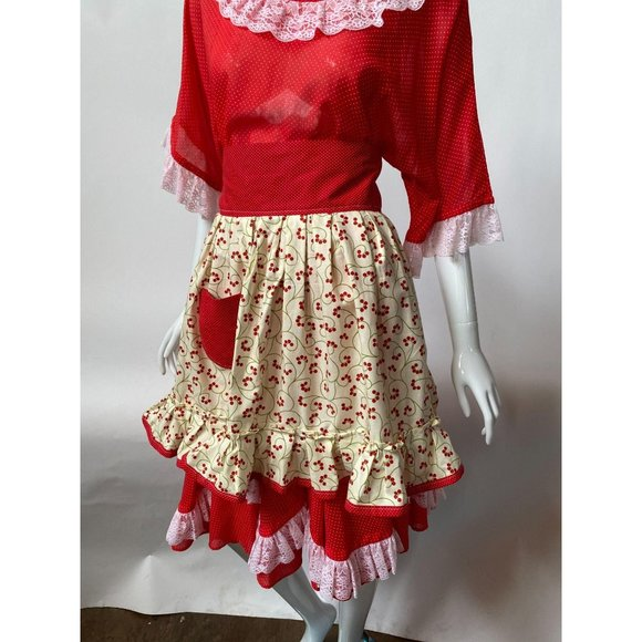 Cherry Ruffled Vintage from 60's Apron